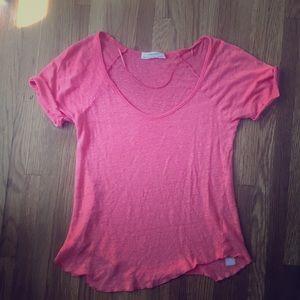 Zara Linen T-Shirt -USA S